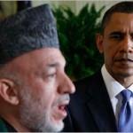 Hamid Karzai with Barack Obama