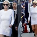 Lindsay Lohan's white dress