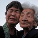 Japanese women weep