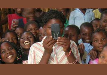 Children listening to Audio Bible in Mozambique