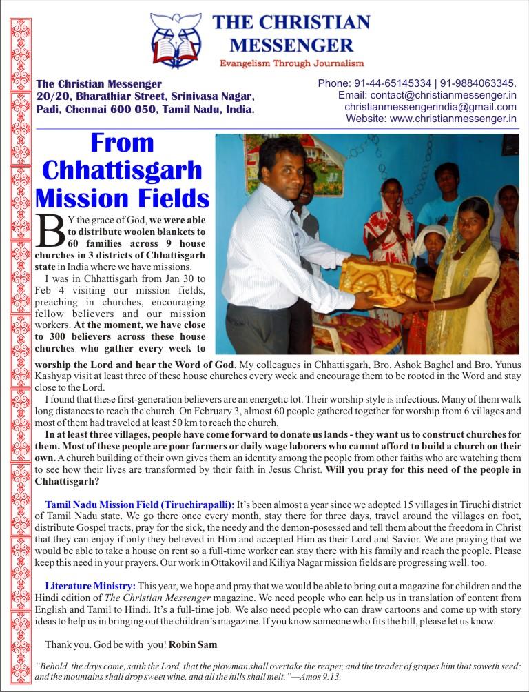 Christian Messenger-Feb-2013-newsletter